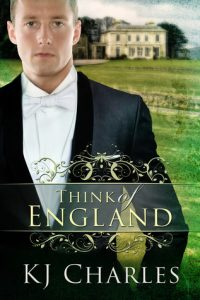cover of Think of England book with a white man in a suit jacket in front of an English manor and grassy field