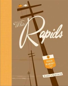 cover of White Rapids showing powerlines receding into the distance in tans, browns and oranges